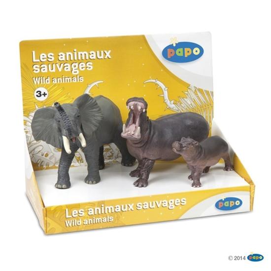 Papo 80001 zwierzęta dzikie zest.2  -3 figurki