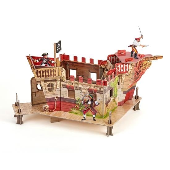 Papo 80403 Fort piracki z 3 figurkami mini