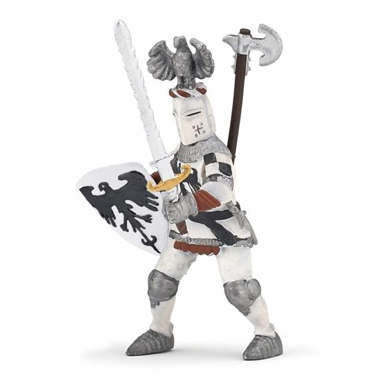 Papo 39785 Rycerz biały z orlim czubem 10x5,5x7cm