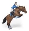 Papo 51560 koń skaczący przez przeszkodę z amazonką  16x10x19cm
