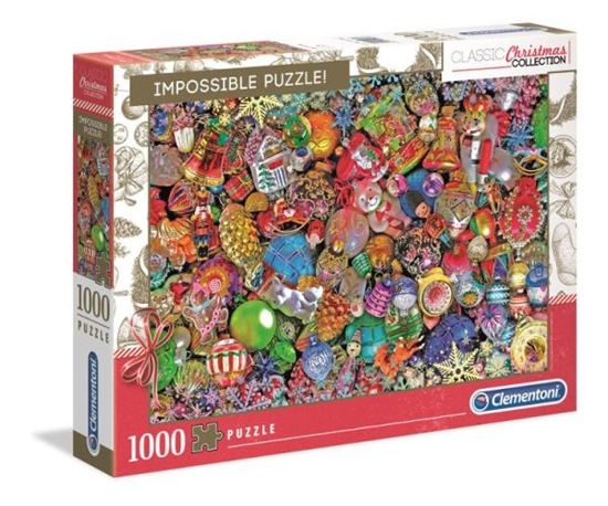 Clementoni Puzzle 1000el Impossible Jolly. Boże Narodzenie 39585 (39585 CLEMENTONI)