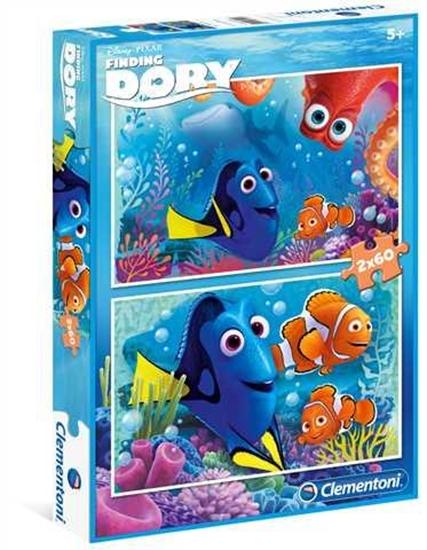 Puzzle 2x60 Gdzie jest Dory (07127 CLEMENTONI)