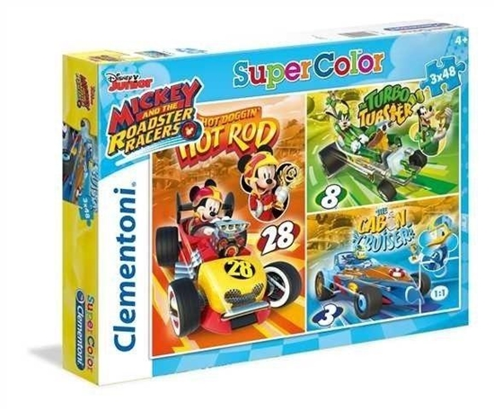 Puzzle 3x48 Mickey and the Roadster Racers (25227 CLEMENTONI)