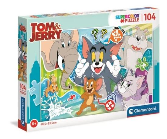 Clementoni Puzzle 104el Tom i Jerry 27518 (27518 CLEMENTONI)