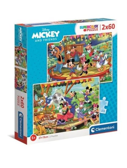 Clementoni Puzzle 2x60el Miki i Przyjaciele. Mickey and Friends 21620 (21620 CLEMENTONI)