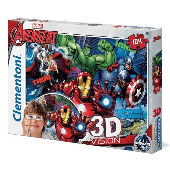 Puzzle 104 3D Vision Avengers (20606 CLEMENTONI)