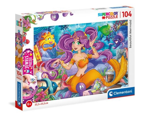 Clementoni Puzzle 104el z ozdobami Piękna Syrenka. Beautiful Mermaid 20178 p6 (20178 CLEMENTONI)