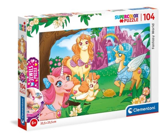 Clementoni Puzzle 104el z ozdobami Fantasy World 20179 p6 (20179 CLEMENTONI)