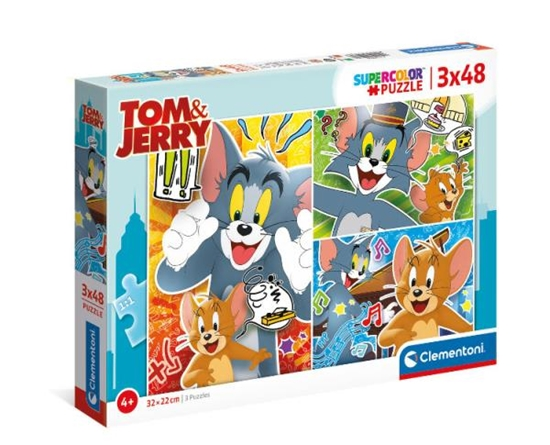 Clementoni Puzzle 3x48el Tom i Jerry 25265 p6 (25265 CLEMENTONI)