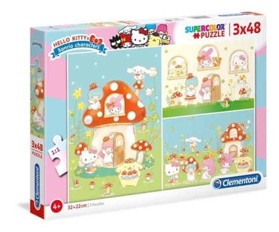 Clementoni Puzzle 3x48el Hello Kitty 25246 p6 (25246 CLEMENTONI)