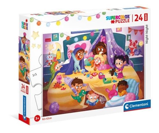 Clementoni Puzzle 24el Maxi podłogowe Night Night Noc 24213 p6 (24213 CLEMENTONI)