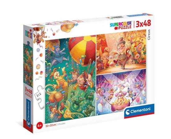 Clementoni Puzzle 3x48el Cyrk. The Circus 25264 p6 (25264 CLEMENTONI)