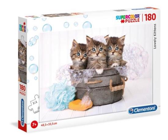 Clementoni Puzzle 180el Trzy śliczne kociaki. Lovely kittens 29109 (29109 CLEMENTONI)