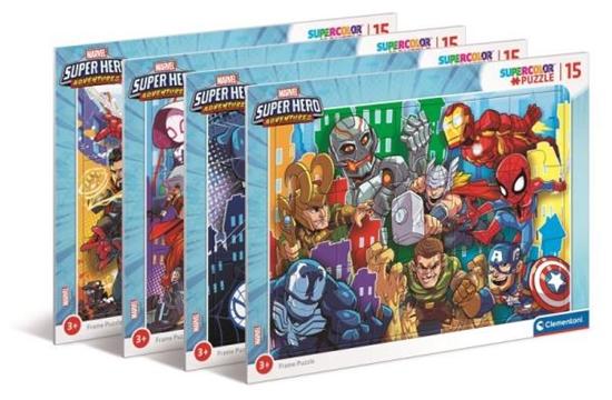 Clementoni Puzzle 15el ramkowe Marvel Super Hero 22240 p6 cena za 1 szt (22240 CLEMENTONI)