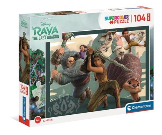 Clementoni Puzzle 104el Maxi Supercolor Raya i Ostatni Smok Disney 23750 (23750 CLEMENTONI)