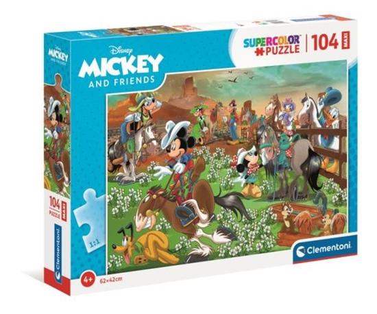 Clementoni Puzzle 104el Maxi Supercolor Mickey i przyjaciele 23759 (23759 CLEMENTONI)