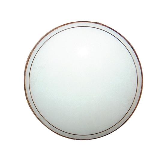 Klosz biały szklany okrągły do plafonu 31,6cm Candellux 63-12305