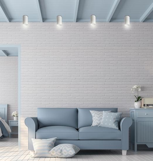 Lampa sufitowa biała oprawa 15W GU10 5,5x10cm Tuba 2284385