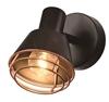 Kinkiet czarny klosz miedziany lampa E14 40W Neria 91-81384