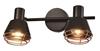 Lampa ścienna/sufitowa czarna klosz miedziany 2xE14 40W Neria 92-81780