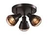 Lampa sufitowa czarna plafon klosz miedziany 3xE14 40W Neria 98-83111