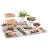 Taca ekspozycyjna bufetowa do potraw z melaminy GN2/3 wys.20 mm biała - Hendi 566930