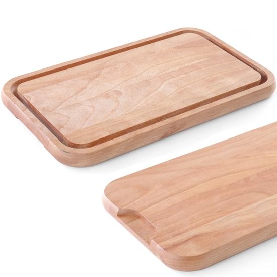 Deska do krojenia drewniana 370 x 200 mm - Hendi 561096
