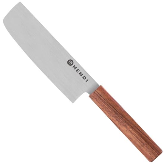 Nóż do warzyw NAKIRI prosty ze stali nierdzewnej dł. 160 mm Titan East - Hendi 841419