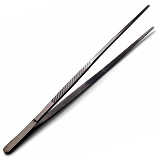 Pęseta pinceta kuchenna uniwersalna ze stali nierdzewnej powlekana dł. 300 mm - Hendi 680131