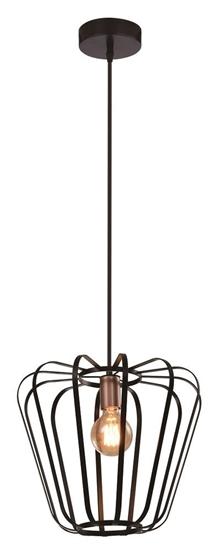 Lampa wisząca czarna metalowa loft 40W E27 Jonas 31-78483