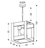 Lampa wisząca czarna metalowa + drewno 40W E27 Varna 31-78513