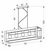 Lampa wisząca czarna metalowa + drewno 5x40W E27 Varna 35-79282