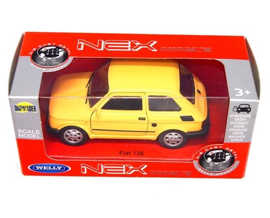 WELLY 1:27 FIAT 126P - żółty