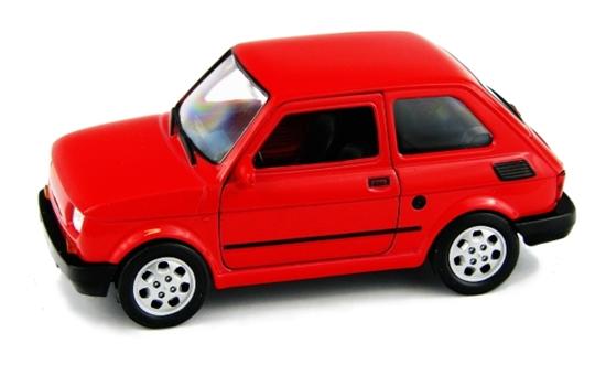 WELLY 1:27 FIAT 126P - czerwony