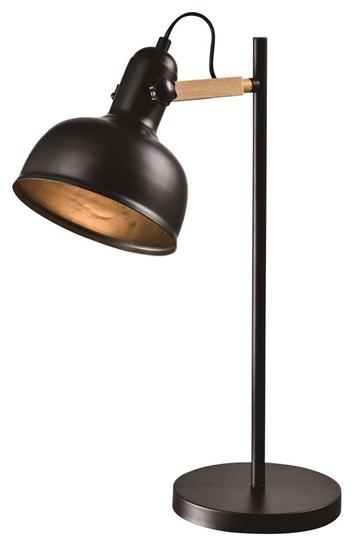 Lampa stołowa gabinetowa czarna E27 klosz regulowany 40W Reno 41-80066