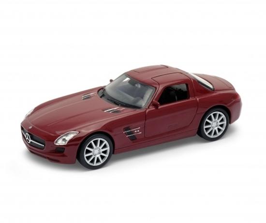 WELLY 1:34 Mercedes-Benz SLS AMG bordowy