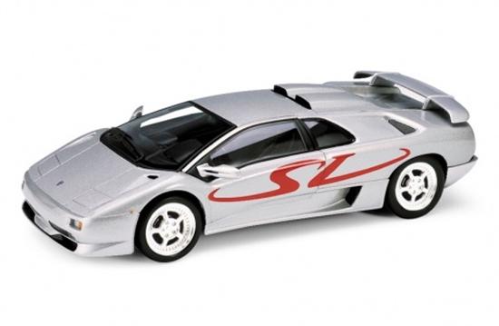 WELLY 1:34 Lamborghini Diablo SV -srebrny