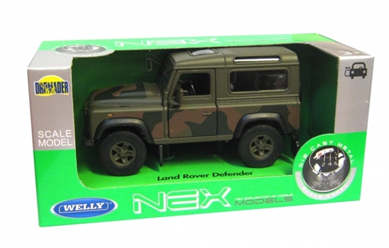 WELLY 1:34 Land Rover Defender - wojskowy