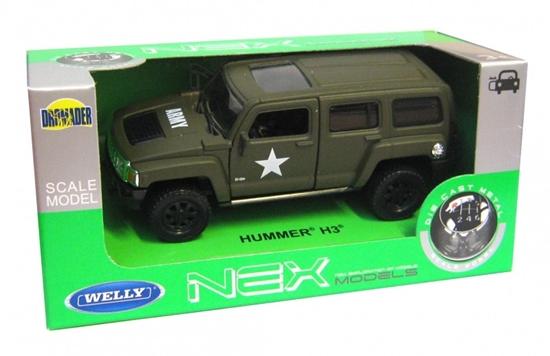 WELLY 1:34 Hummer H3 - wojskowy