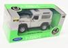 WELLY 1:34 Land Rover Defender srebrny