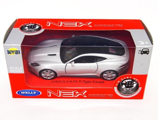 WELLY 1:34 Jaguar F-Type Coupe - srebrny