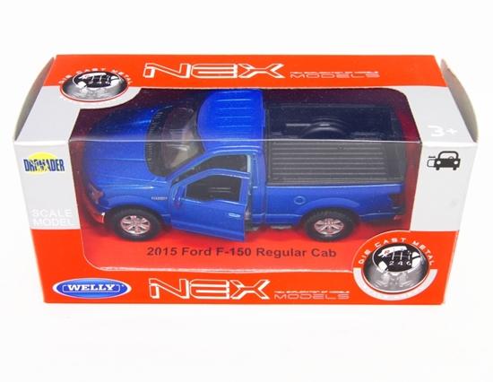 WELLY 1:34 Ford F-150 Regular Cab 2015 - niebieski