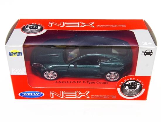 WELLY 1:34 Jaguar F-Type Coupe - ciemno zielony