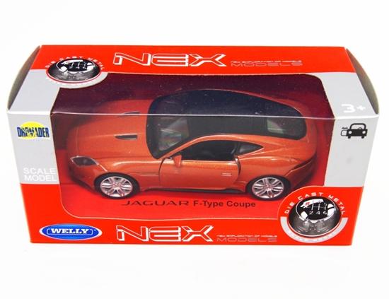 WELLY 1:34 Jaguar F-Type Coupe - pomarańczowy