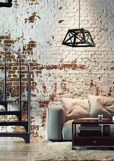 Lampa wisząca czarna metalowa 40W E27 Origami 31-78520