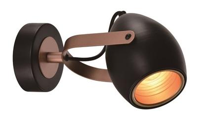 Kinkiet czarno-miedziany regulowany E14 40W Anica 91-81391