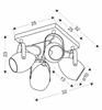 Lampa czarno-miedziana regulowana plafon E14 4x40W Anica 98-83128