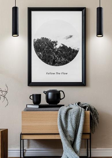 Lampa wisząca czarna oprawa 25W GU10 25cm Tubo 31-78544
