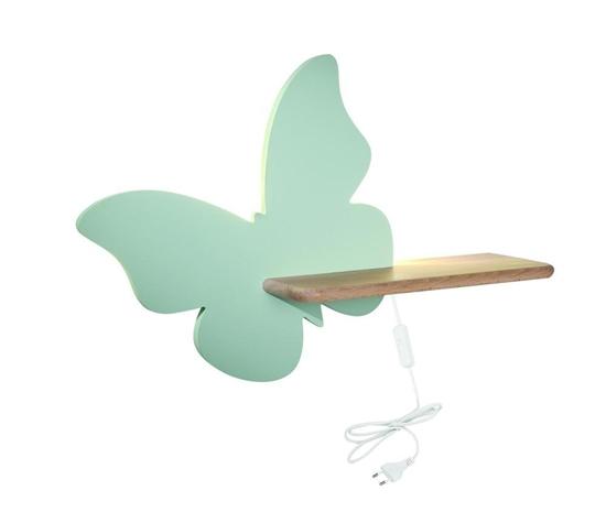 Lampa kinkiet półeczka 5W LED 4000K IQ Kids Butterfly miętowy 21-85153