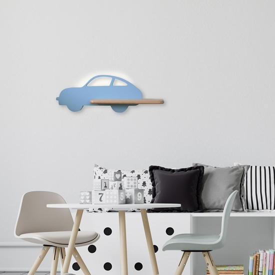 Lampa kinkiet półeczka 5W LED 4000K IQ Kids Car niebieski 21-85085